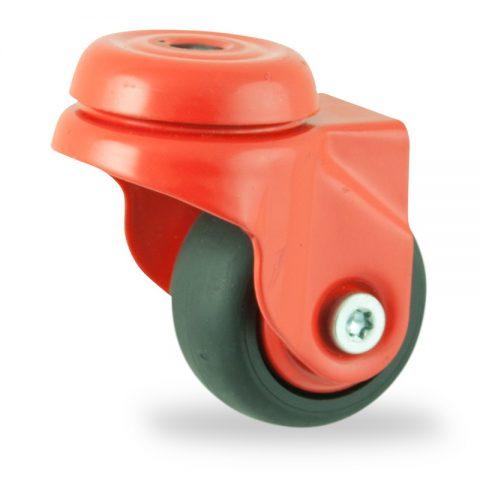 Ruedas de colorlenkrolle  50mm  para  carros,rueda  de  goma gris elástica negro,eje liso.Montaje con pasador