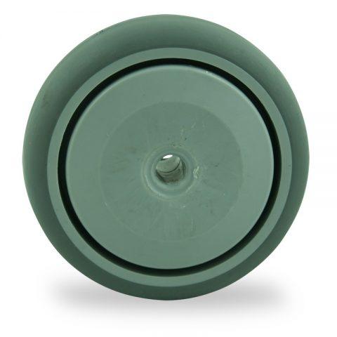 Rueda 75mm  para  carros  de  goma gris elástica,rodamiento a bolas de precision